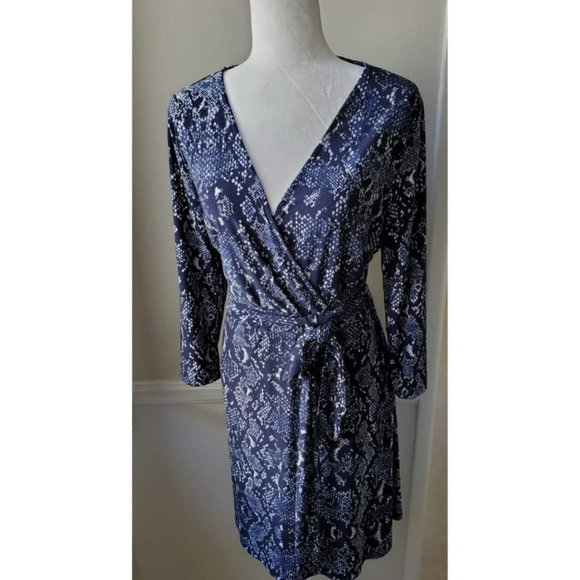 INC International Concepts Dresses & Skirts - INC elegant blue Dress 3/4 sleeve size L